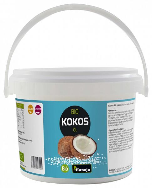 EN Label Bio Kokosöl (Virgin coconut oil) 10L im Eimer