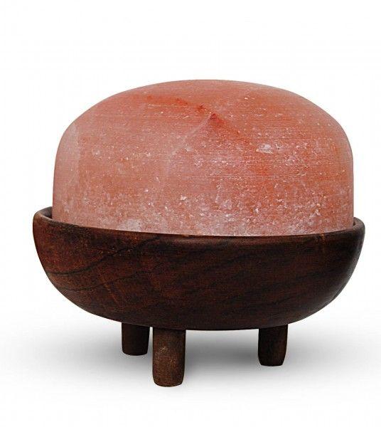 Salzkristall-Lampe Fuß Massage 2 bis 4kg mit Holzsockel