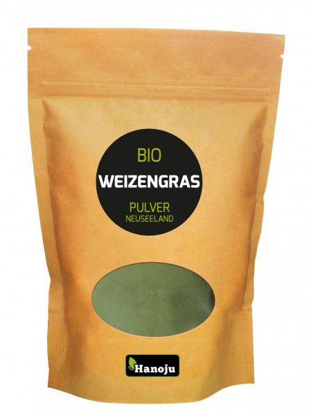 Bio Weizengras Pulver aus Neuseeland 200 g im Zip Beutel