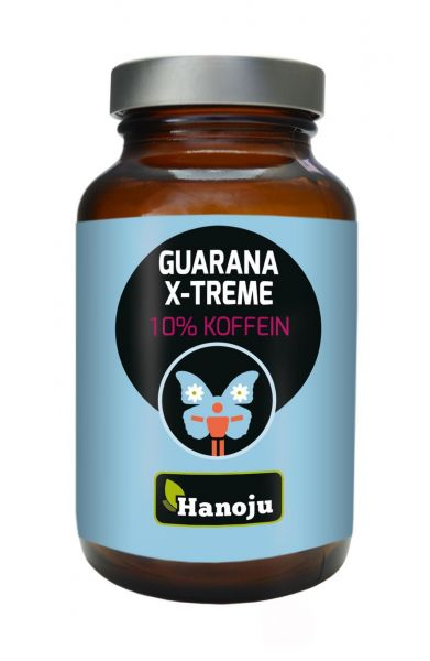 Hanoju Guarana Xtreme mit 10% Koffein 400 mg 90 Kapseln