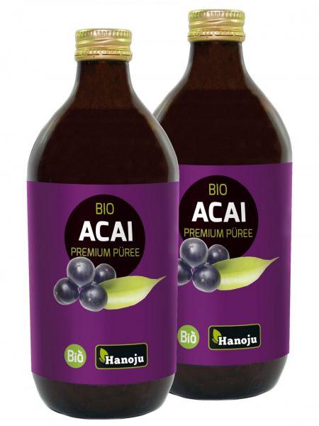 Hanoju Bio Acai  Direkt-Fruchtpüree 100% 2x500 ml