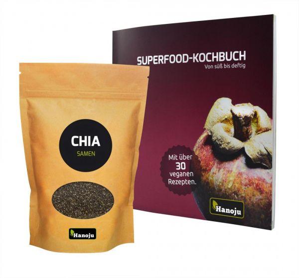 Chia Samen 1000g + Superfood-Kochbuch