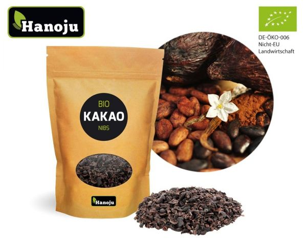 Hanoju Bio Kakao Nibs - Kakaobohnensplitter 1000g