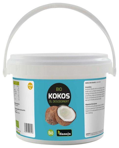 Hanoju Bio Kokosöl desodoriert 1,8 Liter im Eimer