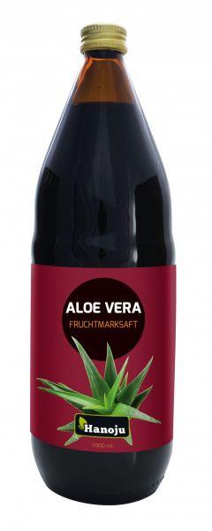 Aloe Vera Fruchtmarksaft, 600 mg Aloverose, 12 mal 1000 ml