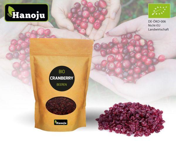 Hanoju Bio Cranberries Beeren 1000 g Zipbeutel