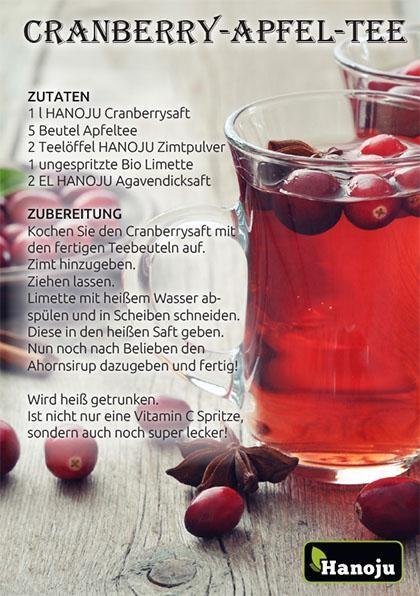 Cranberry-Apfel-Tee