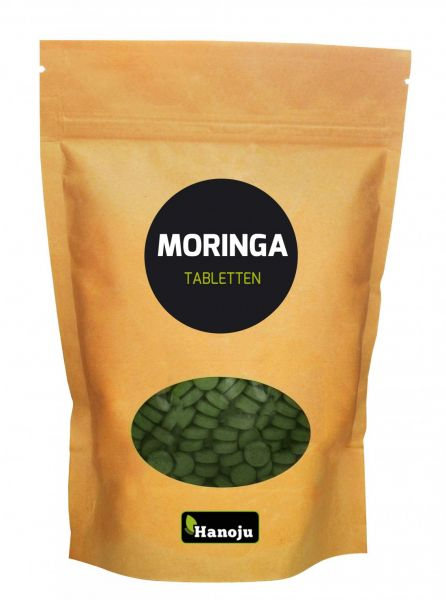 Moringa Ganzblattpulver 500 mg, 2000 Tabletten