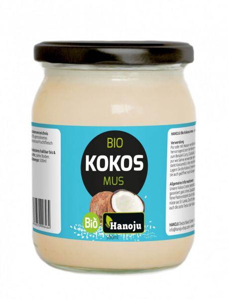 Hanoju Bio Kokosmus (Creme) 500 g im Glas