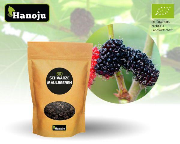 Schwarze Bio Maulbeeren 1000g im Zipbeutel