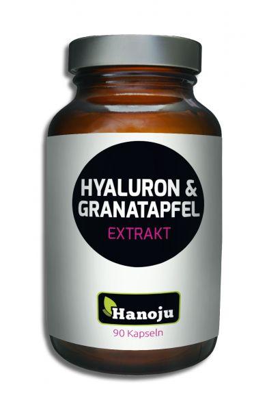 Hanoju Hyaluronsäure 100 mg + Granatapfelextrakt 350 mg - 90 Kapseln