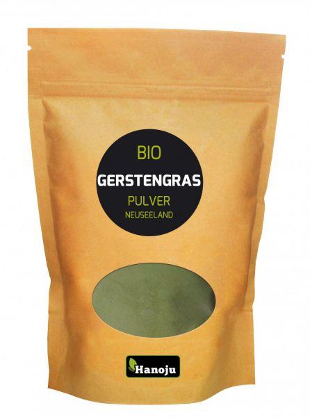 Hanoju Bio Gerstengras Pulver aus Neuseeland 250 g im Paperbag
