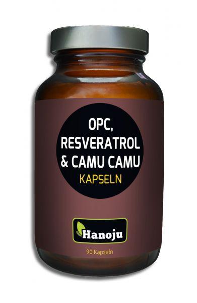 Hanoju OPC + Resveratrol + Bio Camu Camu 500 mg 90 Kapseln
